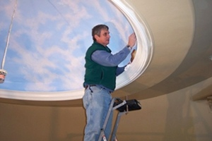 New Work From Frank Wilson - Ceiling Mural In A Dome.
