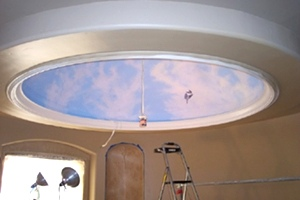 Frank Wilson - Ceiling Mural In A Dome.